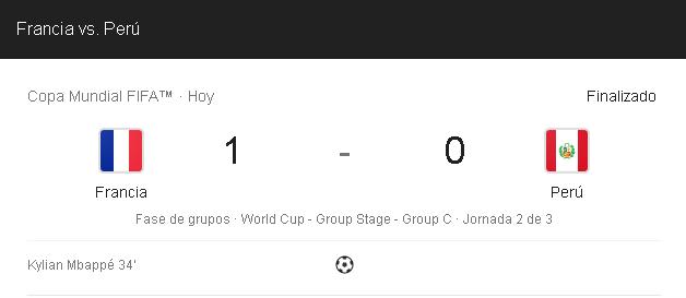 Photo of ¡Eliminados Del Mundial! La Selección De Perú Pierde Ante Francia