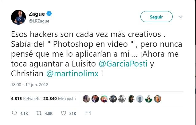 """Photo of Respecto A Su Video """"Zague"""" Dice La Culpa Es Del Photoshop"""