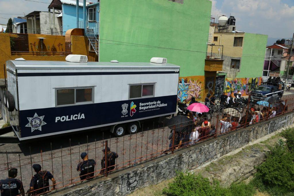 Photo of #Morelia Instala SSP Módulo Policial En La Colonia Lomas De Morelia