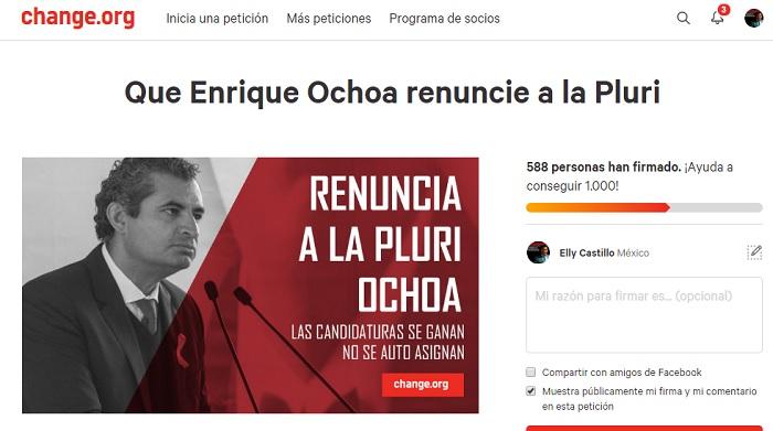 Photo of Priistas Michoacanos Exigen A Enrique Ochoa Renuncie A Su 'Pluri'; Lanzan Petición En Change.org