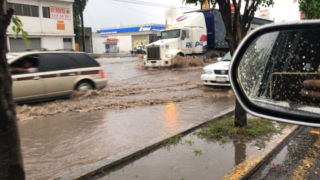 Photo of #Morelia Encharcamientos Y Árbol Caído En Salida Quiroga