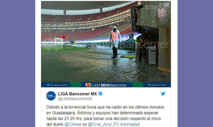 Photo of #Video Se Retrasa Juego Entre Chivas Y Cruz Azul Por Intensa Lluvia