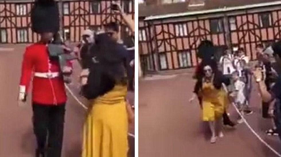 Photo of #Video Guardia Real Empuja A Turista Por Andar Donde No Debía