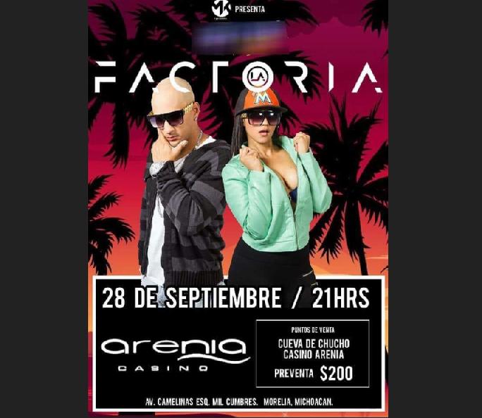 """Photo of #Morelia """"La Factoria"""" Te Pondrá A Bailar Este 28 de Septiembre"""