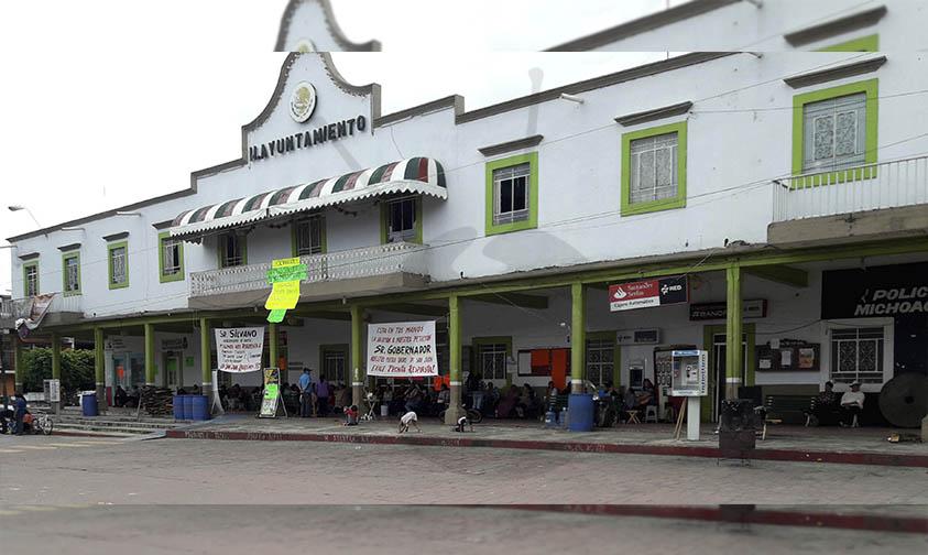 toma alcaldía San Juan Nuevo