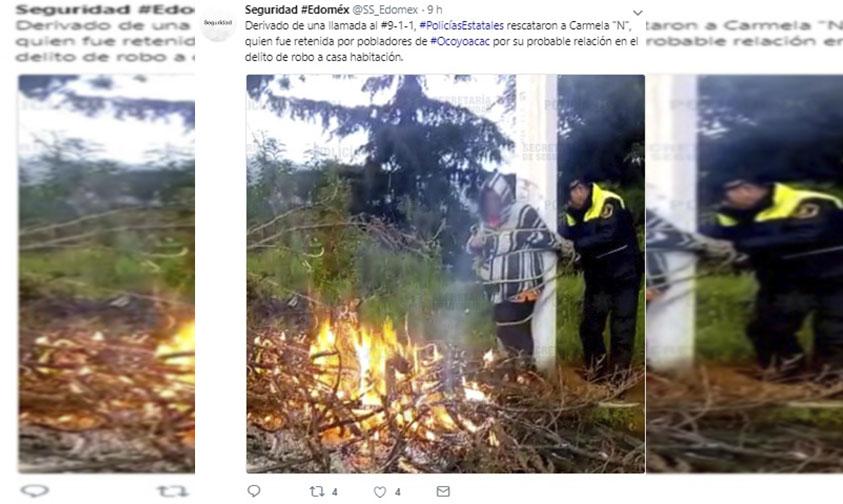 Photo of ¡Justo A Tiempo! Policías Rescatan A Doñita De Ser Linchada Por Robo A Una Casa En #EdoDeMex