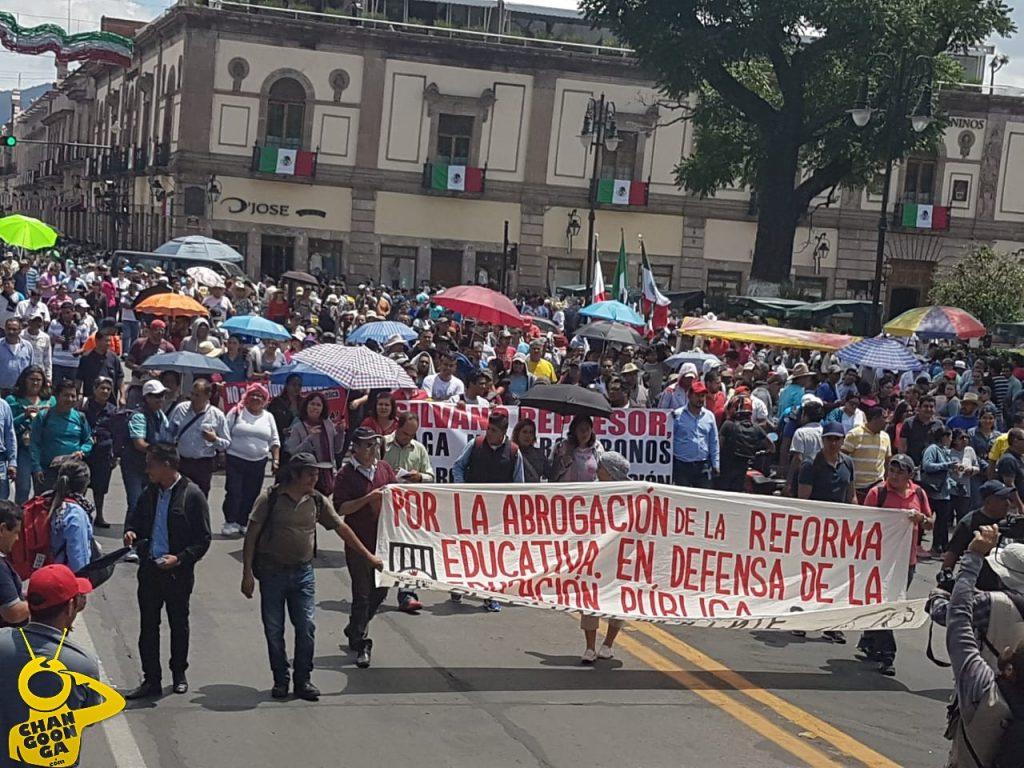 Photo of #Morelia Anuncia CNTE Megamarcha El Viernes; Paro El Lunes, Y Campaña VS Silvano