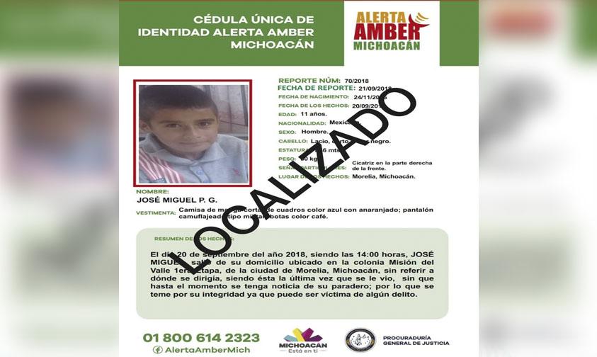 Photo of Ñino Desaparecido En Morelia Es Encontrado En Villa Madero