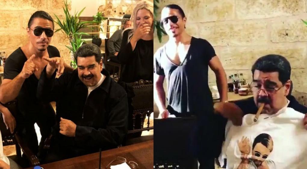 """Photo of #Vídeo Nicolás Maduro Disfruta Banquete En Lujoso Restaurant De """"Salt Bae"""" En Turquía"""