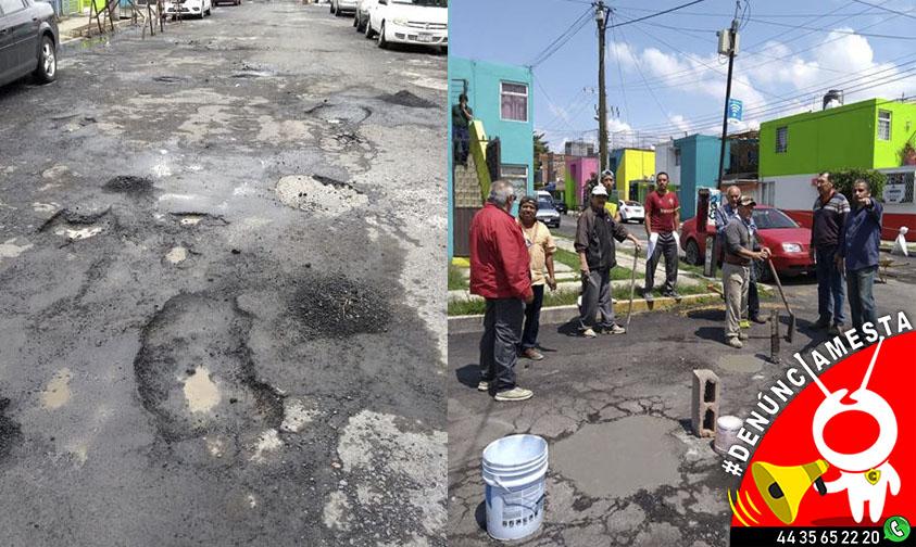 Photo of #Denúnciamesta Ante falta de atención vecinos de Valle Quieto se unen para tapar baches