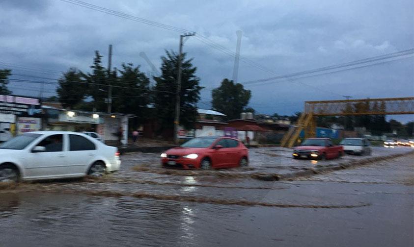 inundación Villas del Pedregal Morelia a