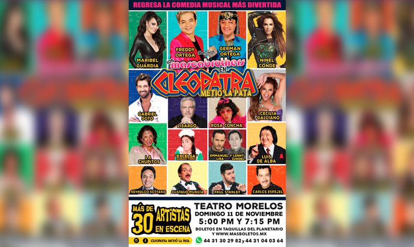 """Photo of #Morelia """"Cleopatra Metió La Pata"""" Llega Al Teatro Morelos El 11 De Noviembre"""