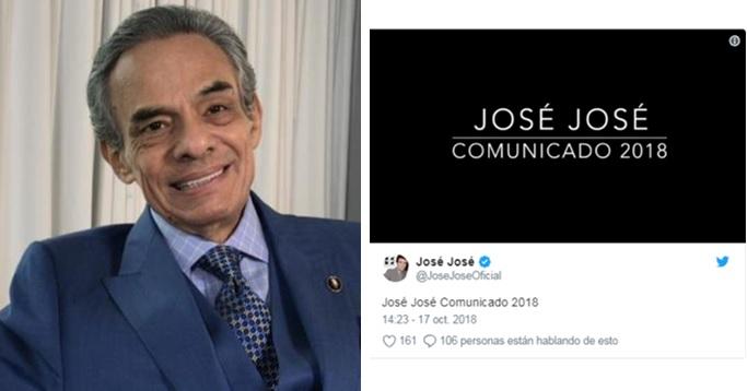Photo of José José Reaparece En Redes Sociales Con Extraña Grabación