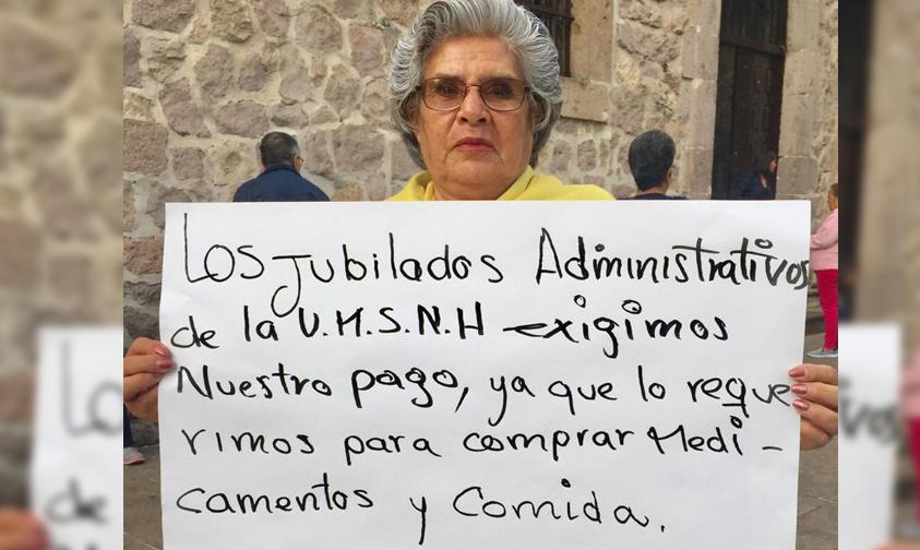 Photo of #Michoacán Jubilados De UMSNH Piden Sean Pagados Salarios Atrasados