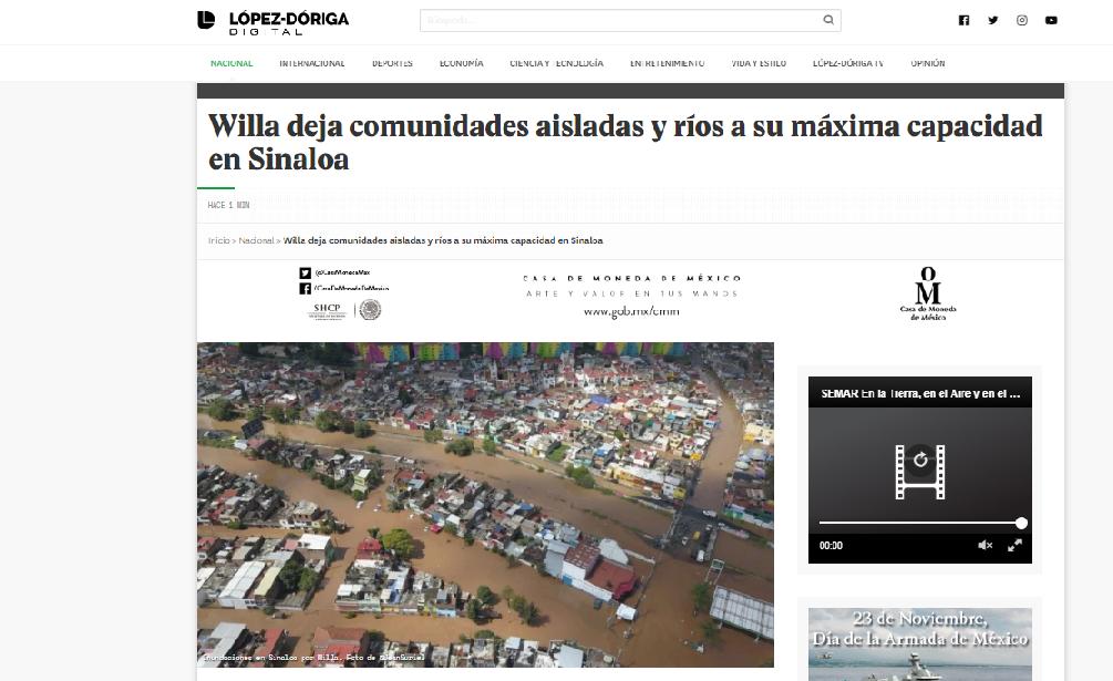 Photo of López Dóriga Confunde Inundaciones De Sinaloa Con Las De Morelia