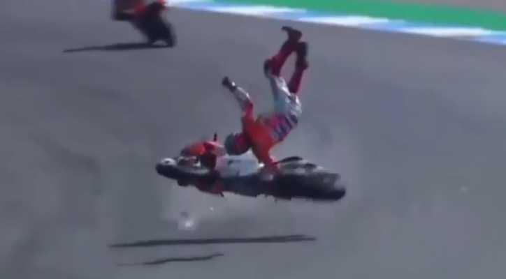 Photo of #Video Sufre Fuerte Accidente Campeón Mundial En MotoGP
