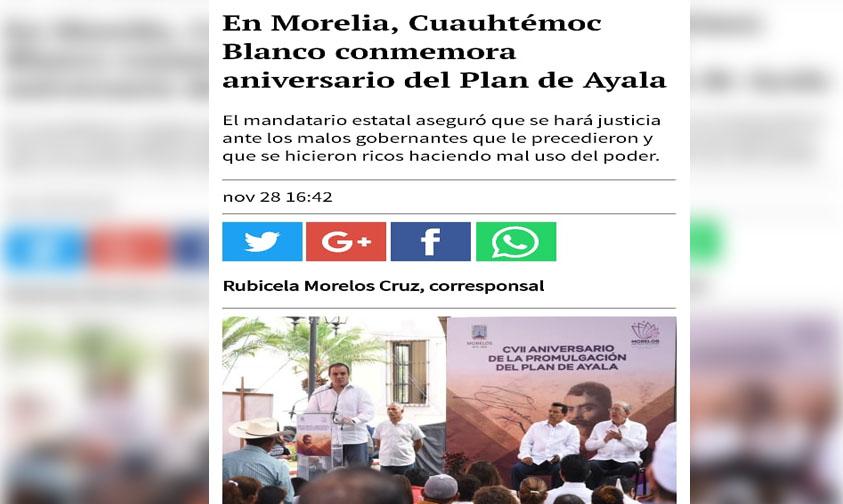 """Photo of Los De La Jornada Hacen """"Gobernador» De Morelia A Cuauhtémoc Blanco"""