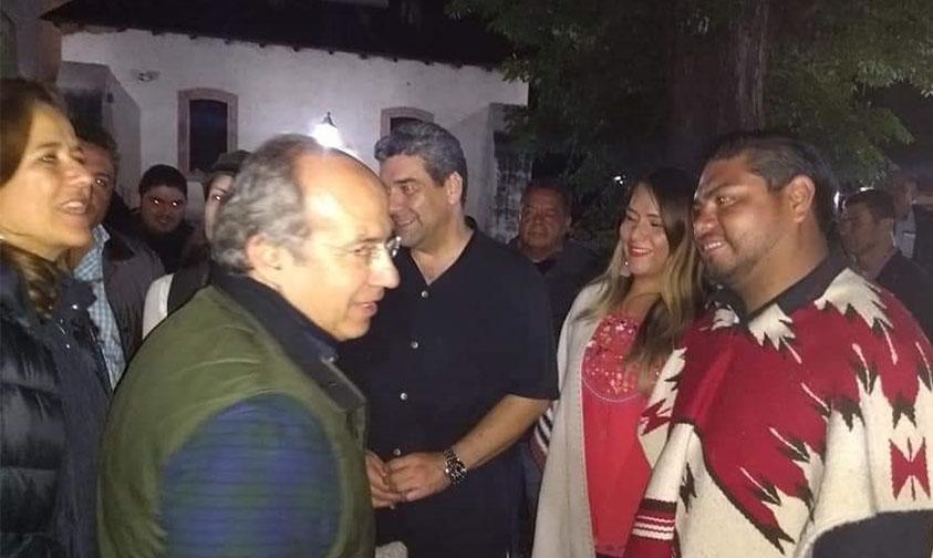 Felipe Calderón calvo Noche de Muertos