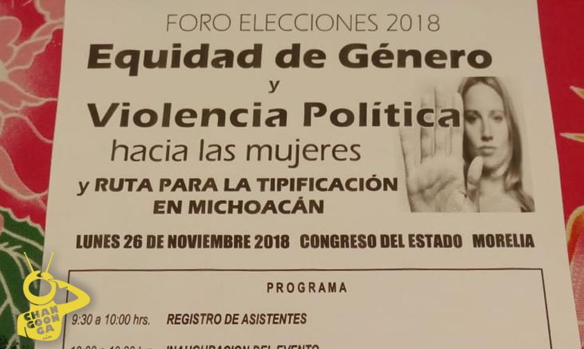 Photo of #Michoacán Anuncian Foro De Equidad De Género Y Violencia Política Hacia Mujeres