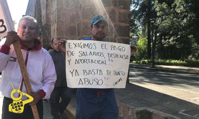 Photo of #Morelia Ya Comienza Mega Marcha Sindical, Llegará A Palacio De Gobierno