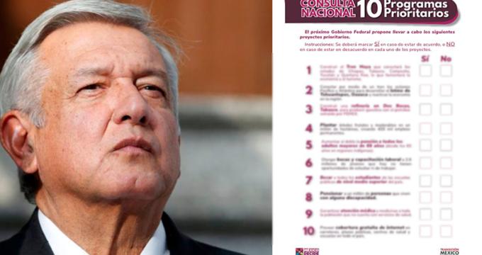 "Photo of Presentan Boleta Para ""Mega Consulta Ciudadana"" De AMLO"