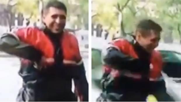 Photo of #Video Reportero Transmitía En Vivo Y Terminó Empapado