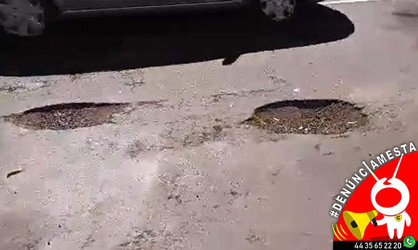 """Photo of #Denúnciamesta: Morelianos reportan """"cráteres"""" en Boulevard García De León y autoridades no hacen nada"""