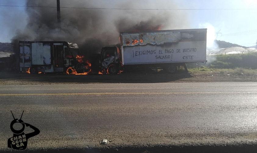 Photo of #Michoacán Docentes Quemaron Unidades Por Falta De Pago, Así Presionan A Silvano