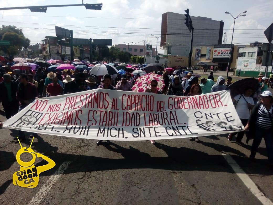 Photo of #Morelia Maestros Llegan A Monumento, Continúan Por Avenida Madero