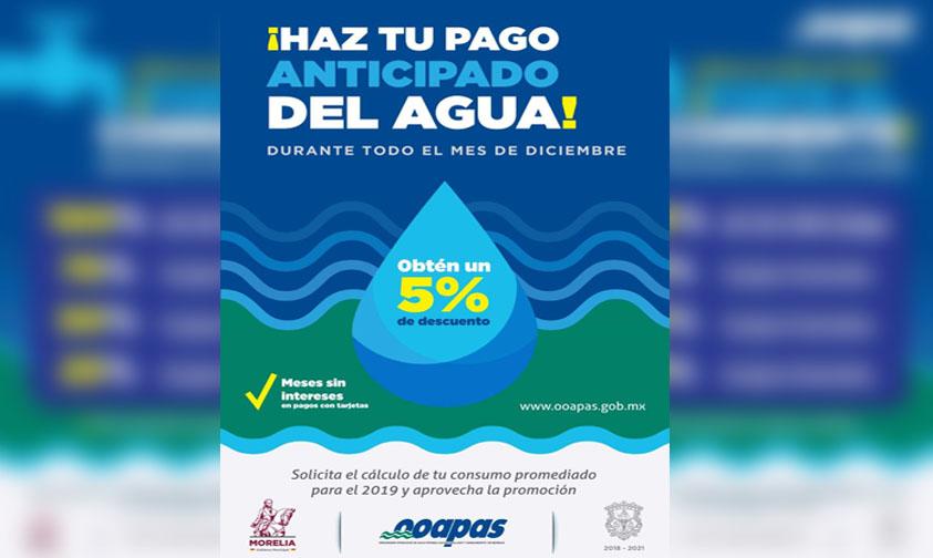 Photo of #Morelia OOAPAS Ofrece Descuento En Pago Anticipado Y Hasta 100% Multas Y Recargos