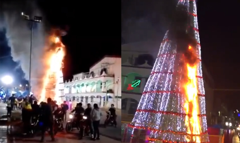 Photo of #Video Americanistas Se Prenden De Más E Incendian Arbolito Navideño
