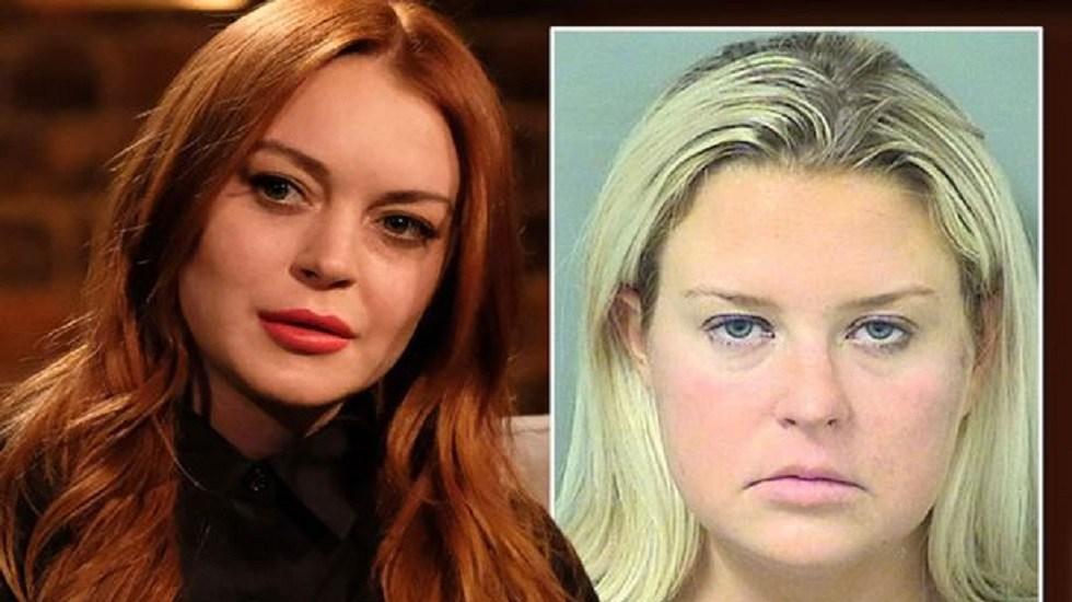 Photo of Arrestan A Madrastra De Lindsay Lohan Por Madrear A Chofer De Autobús