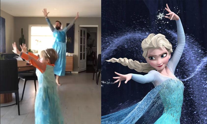 Photo of #Video Papá Se Disfraza De Elsa Para Enseñarle A Su Hijo Importante Lección