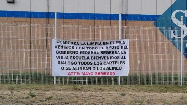 Photo of #Jalisco Aparecen Mantas Del Mayo Anunciando Limpia Respaldada Por Gobierno Federal