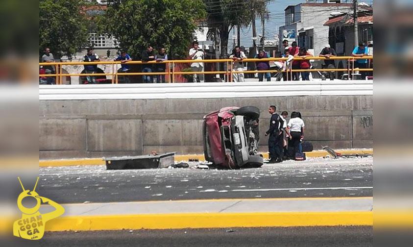 Photo of #Morelia Chocan Taxi Y Camioneta En Libramiento, Por Crucero El Del Tecnológico