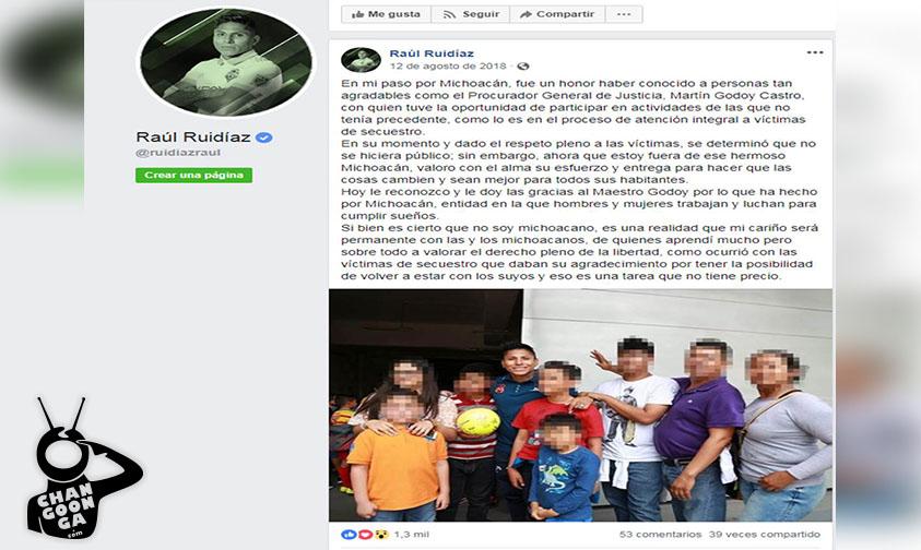 Raúl Ruidíaz secuestro Morelia