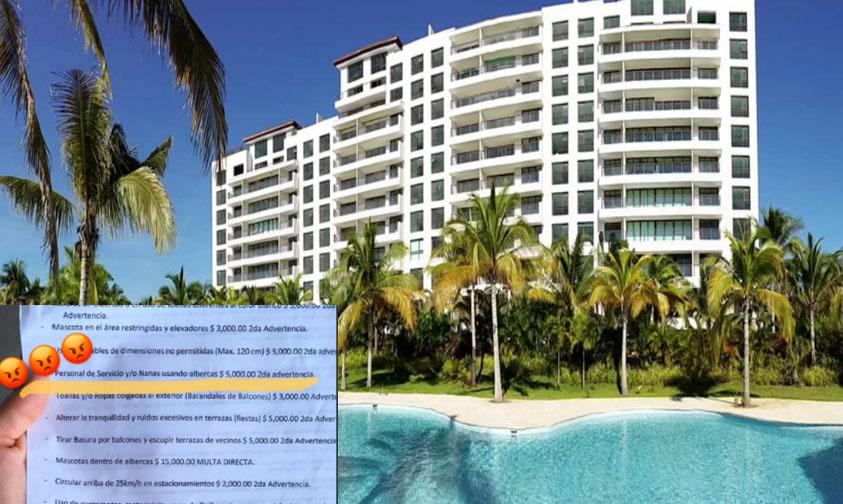 Photo of Residencial De Acapulco Multa Con 5000 Pesos A Personal Y Nanas Que Usen Albercas
