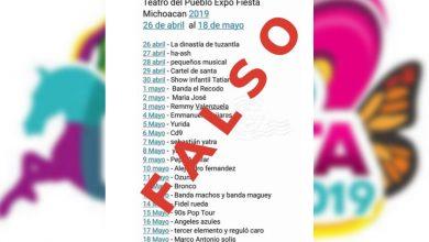 Photo of FALSA La Lista De Artistas Para El Teatro Del Pueblo Para Expo Fiesta Michoacán 2019