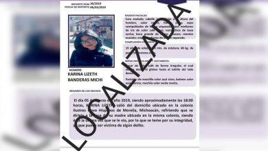Photo of #Morelia Reportan Sana Y Salva A Chava De 19 Años Tras Días Desaparecida