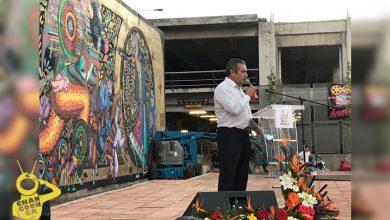 """Photo of Morón Destaca Sensibilidad De Artistas Que Participaron En El Mural """"Brota La Lengua"""""""