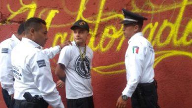 Photo of #Morelia Apañan A Vato Grafiteando Bien Agustín En El Centro