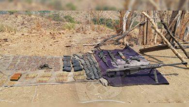 """Photo of #Michoacán Encuentran Gran Armamento Escondido Entre Maleza De """"Las Cabras"""", Aguililla"""