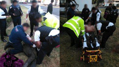 Photo of Policía De Morelia Ayuda A Alejandro Tras Ser Atropellado Sobre La Enrique Ramírez