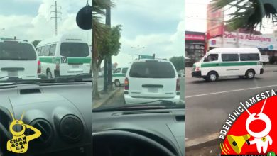 Photo of #Denúnciamesta Combi da vuelta prohibida a exceso de velocidad, se pasa alto