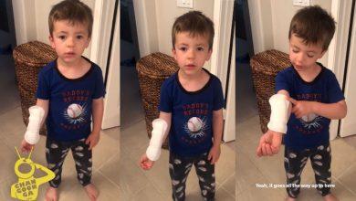 Photo of #Video Niño Confunde Toalla Sanitaria Con Curita Y Su Reacción Se Vuelve Viral