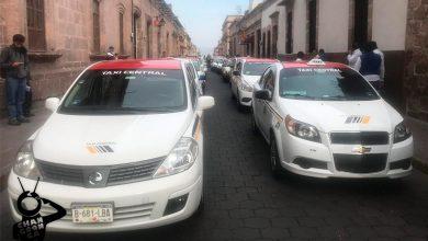 manifestación-Taxistas-Morelia