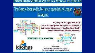 Photo of #UMNSH Congreso Internacional Investigación Y Aprendizaje De Lenguas Extranjeras