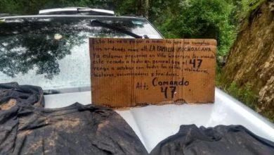 Photo of Dejan Narcomensaje Firmado Presuntamente Por La Familia Michoacana; Anuncian Llegada A Edomex