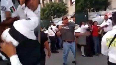Photo of #Video Poli Agarra A Golpes A Chavita De Secu Por Grabarla Abusando De Su Autoridad