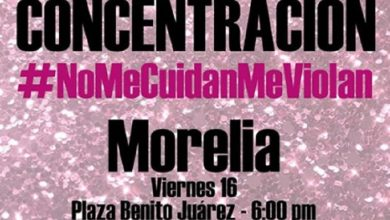Photo of Morelianas Convocan Mañana A Brillanteada Rosa #NoMeCuidanMeViolan